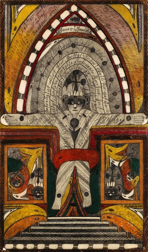 Die Kreuzigung meiner Wenigkeit, auf der Biskaya,=Haven=Insel, im stillen Ozean, im Späht=Sommer, 1,876 (1920)