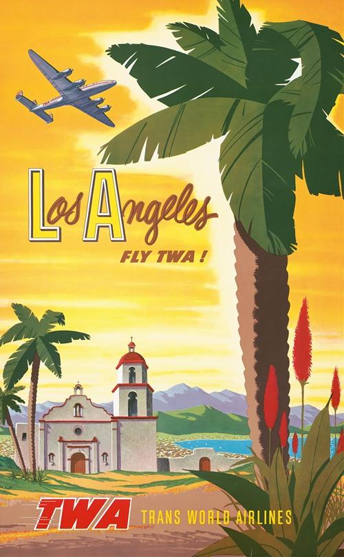 Los Angeles - fly TWA! (1950s)