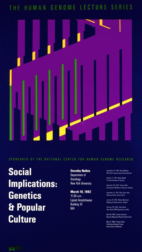 Social implications; genetics and popular culture (1992)