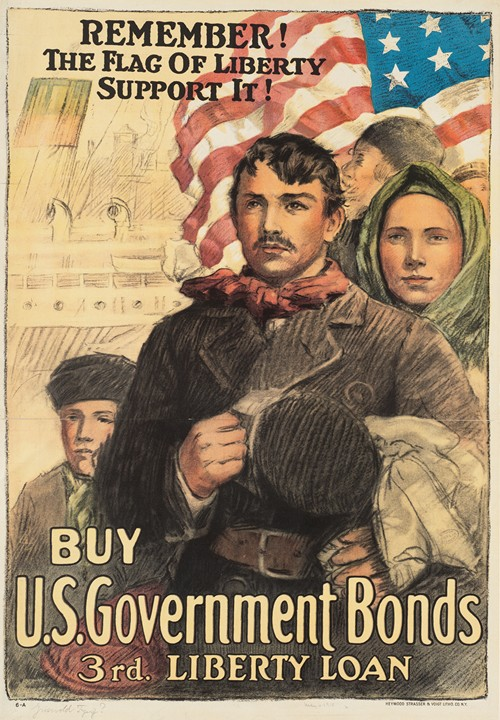 Remember! The flag of liberty - support it! Buy U.S. government bonds, 3rd Liberty Loan (1918)