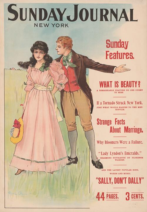 Sunday Journal, New York. Sunday features (1896)