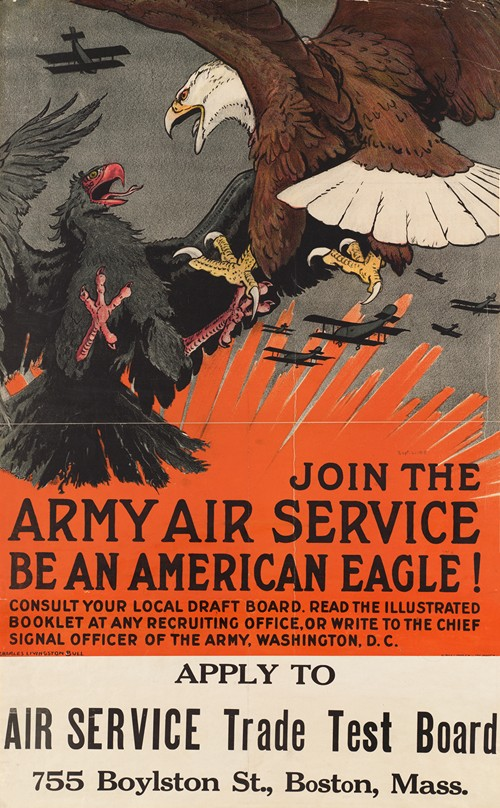 Join the army air service. Be an American eagle! (1918)