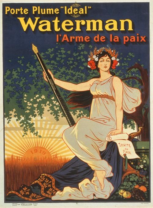 Porte plume 'Ideal' Waterman l'arme de la paix (1919)