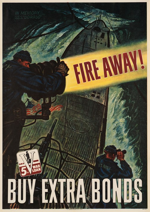 Fire away! Buy extra bonds (1944)