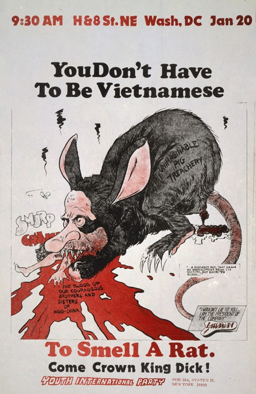 You don't have to be Vietnamese to smell a rat, Come crown King Dick! (1973)