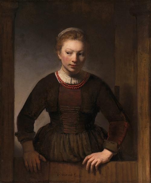 Young Woman at an Open Half-Door (1645)