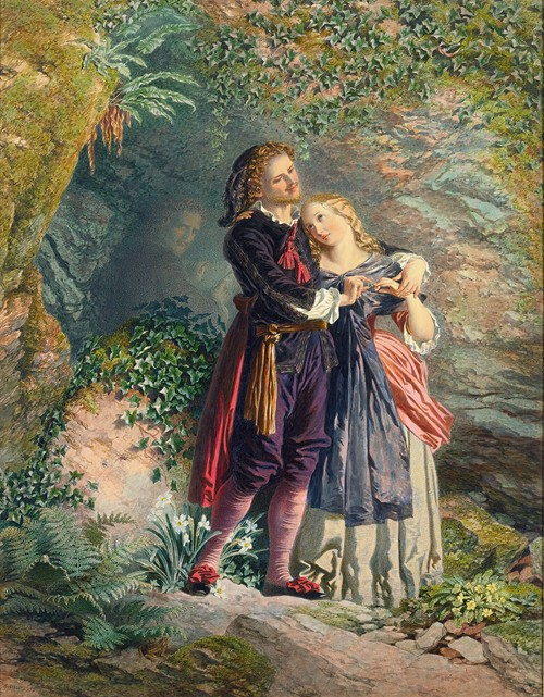 Ferdinand And Miranda, From 'the Tempest'