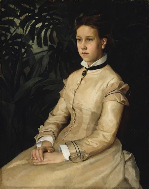 Portrait Of The Artist's Sister Ellen Edelfelt (1876)