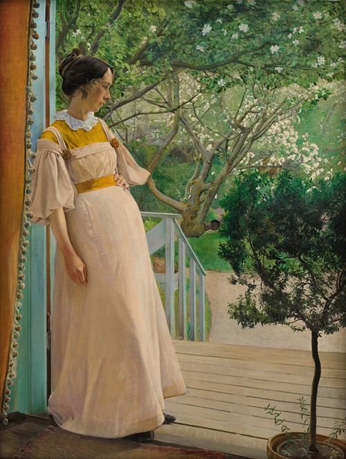 At The French Windows. The Artist's Wife