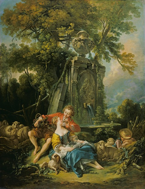 Pastoral with a Couple near a Fountain (1749)