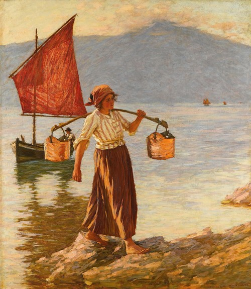 Fetching Water From Lake Garda