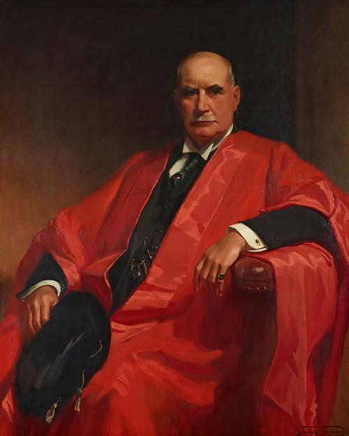 Portrait of J. P. Morgan, Jr. (1867-1943) in a Cambridge Robe (1934)