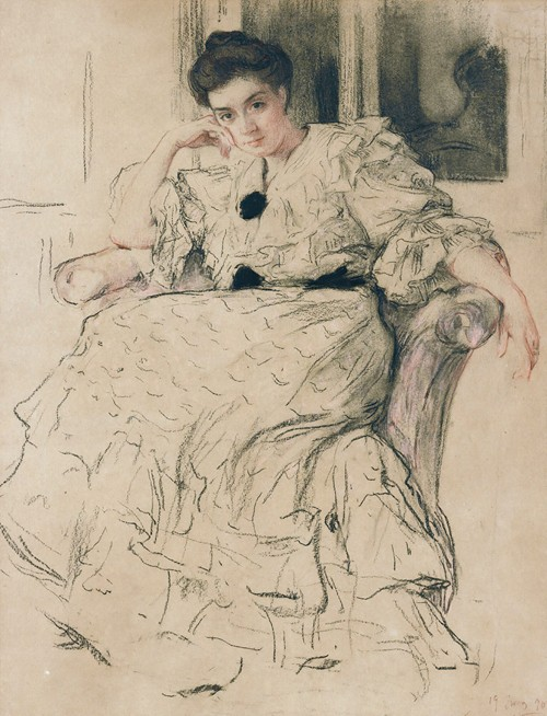 Portrait Of The Artist'S Wife (1906)