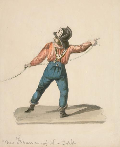A Fireman of New York (ca. 1840)