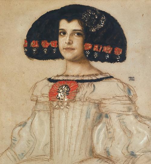 Mary, the artist's daughter, in velasquez dress