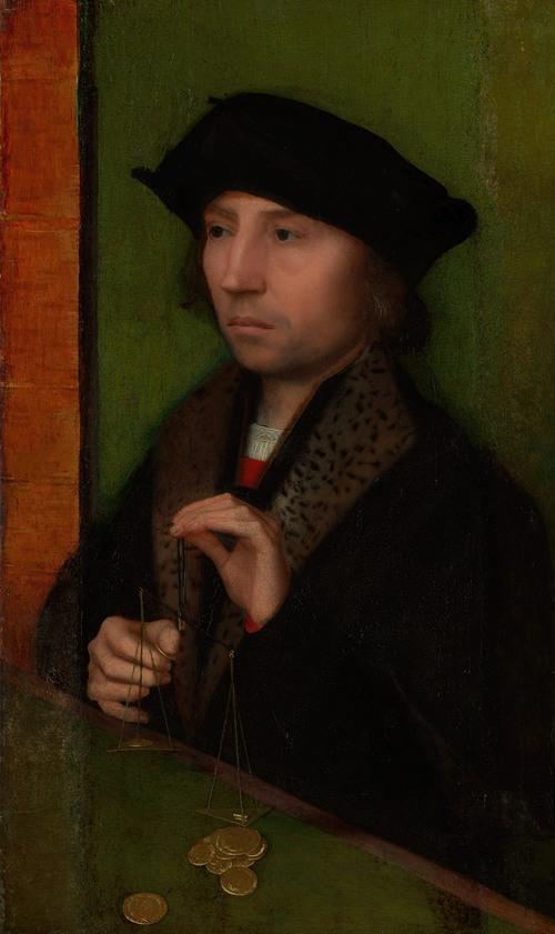 Man Weighing Gold (ca. 1515-20)