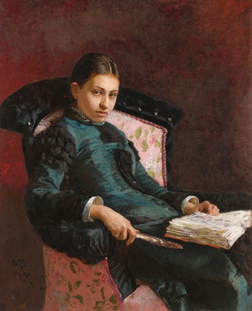 Portrait of The Artist's Wife, Vera Repin (1878)