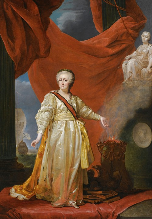 Portrait Of Catherine The Great As Legislator In The Temple Of The Goddess Of Justice