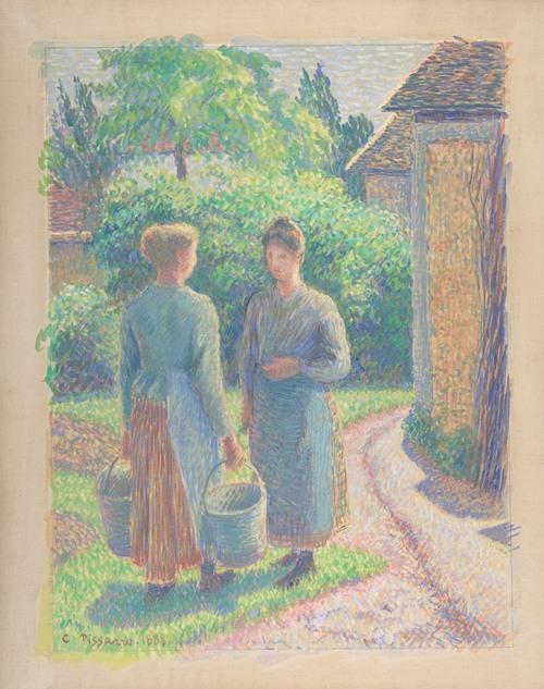 Two Women in a Garden (1888)