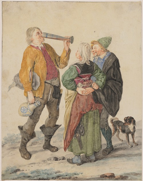 Peasant Couple with a Drinker (1689)