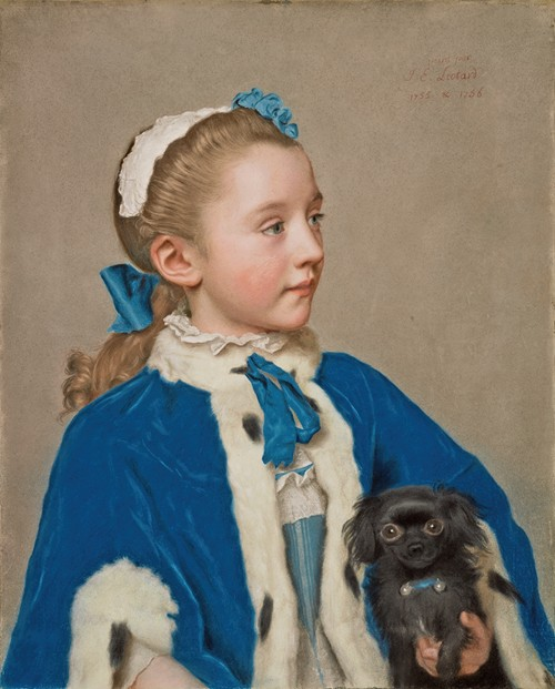 Portrait of Maria Frederike van Reede-Athlone at Seven Years of Age (1755-1756)