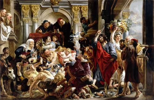 Jesus Driving The Merchants From The Temple (1645-50)