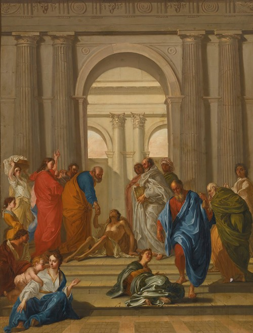 Saint Peter Healing The Paralytic At The Gate Of The Temple