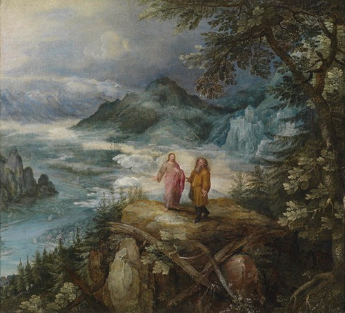 Mountain Landscape With The Temptation Of Christ