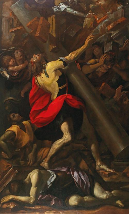 Samson destroying the temple (17th Century)