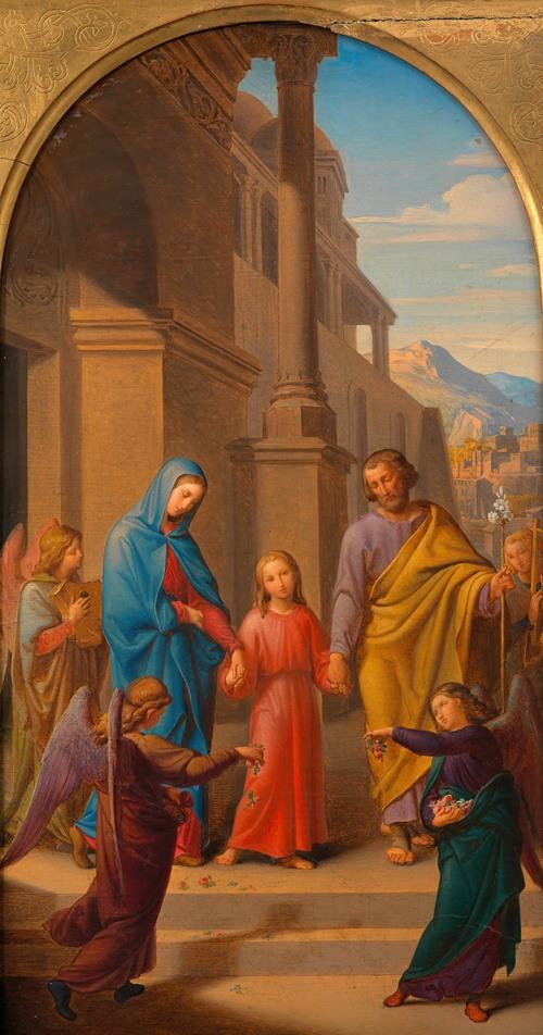 Gang der Hl. Familie zum Tempel (Entwurf für ein Altarbild in der Lichtentaler Pfarrkirche) (around 1841)