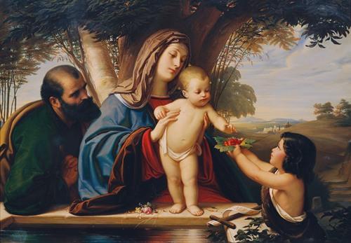 Heilige Familie mit Johannesknaben (1855)