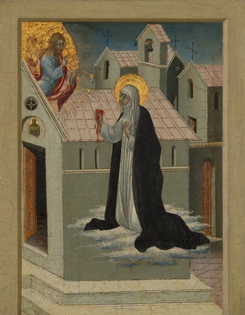 Saint Catherine of Siena Exchanging Her Heart with Christ