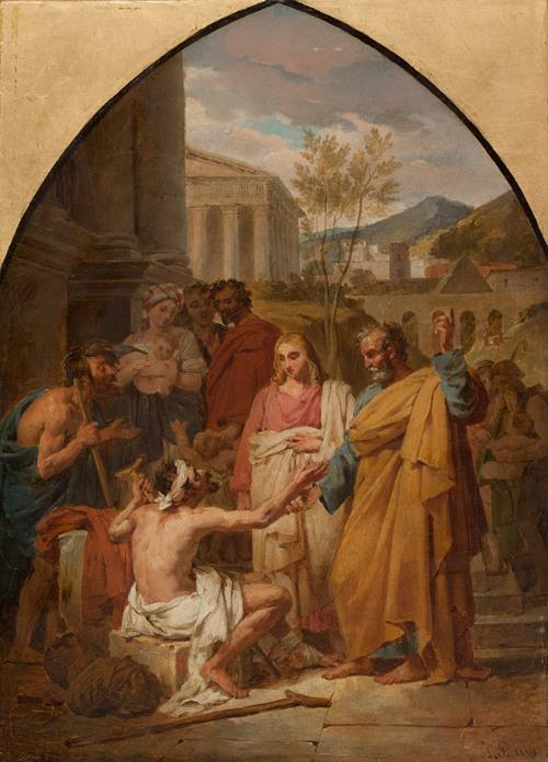 Saint Pierre guérissant un boiteux à la porte du Temple de Jérusalem (circa 1819)