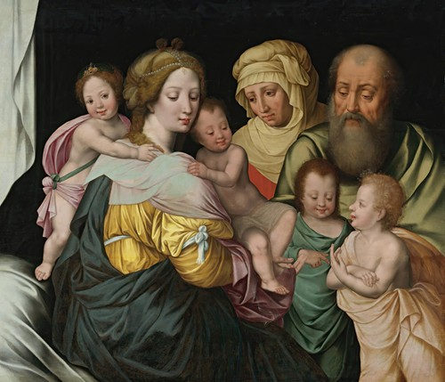 The Madonna And Child With Saints Elizabeth And Other Members Of The Holy Family