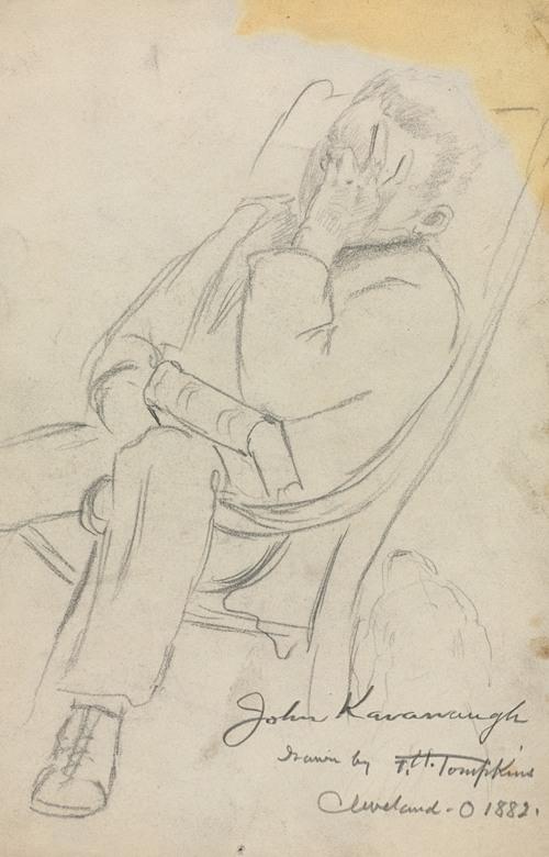 Sketch of John Kavanaugh (1882)