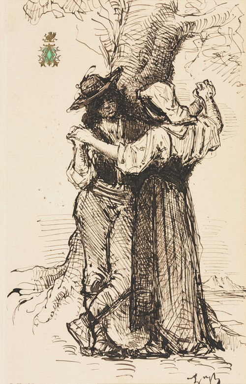 Couple Courting by a Tree (1871)