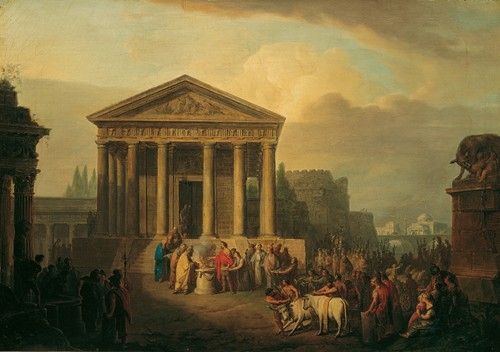Sacrifice In Front Of A Roman Temple (1791)
