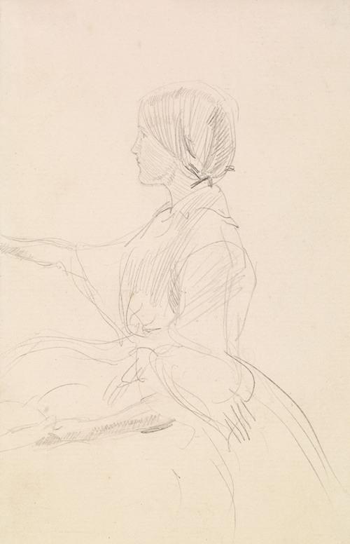Tennyson's The Grandmother's Apology - Girl Seated on Floor (1859)