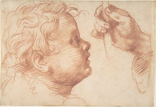 Studies of a Head and a Hand (1510)
