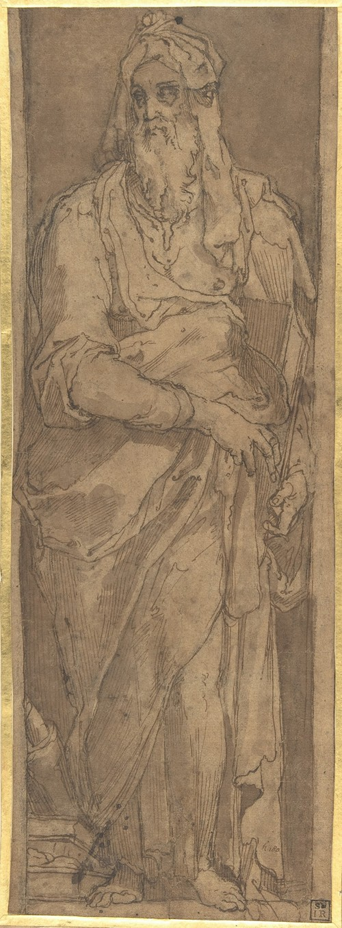 Standing Prophet in a Niche, Holding a Book (1529-66)