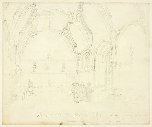 Study for Lambeth Palace, from Microcosm of London (c. 1808)