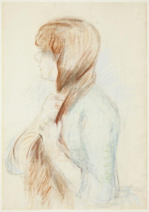 Girl Plaiting her Hair (La Natte) (1894)