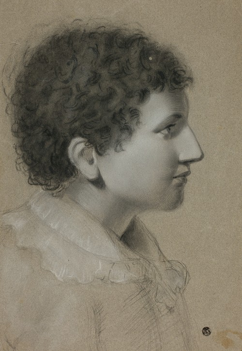 Profile of Youth with Curly Hair