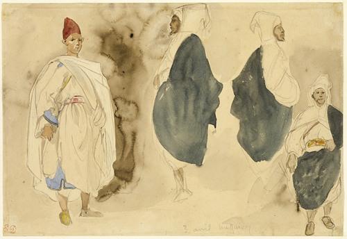 Four Sketches of Arab Men (1832)