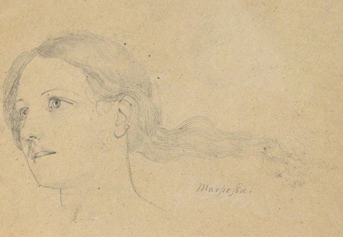 Study for The Judgment of Jupiter (Marpessa, head, hair streaming behind her (ca. 1815)