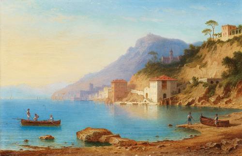 View of the Amalfi coast (1867)