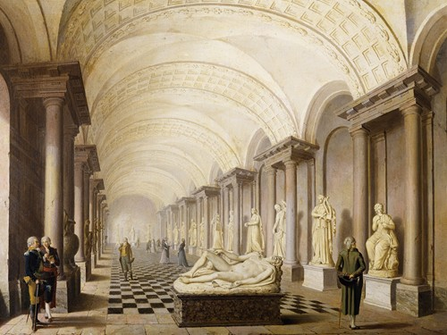 The Gallery of the Muses, in the Royal Museum at the Royal Palace, Stockholm (1796)