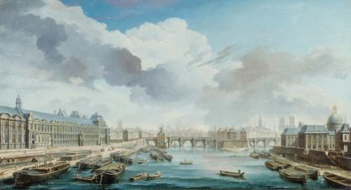 Le Louvre, Le Pont-Neuf Et Le Collège Des Quatre-Nations, Actuel Institut De France, Vus Du Pont Royal (1755)