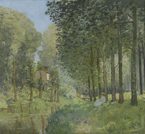Rest along the Stream. Edge of the Wood (1878)