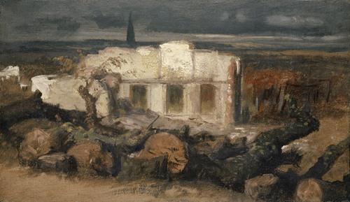 Destroyed House near Kehl (1870)